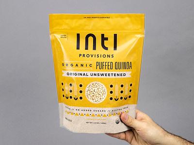 Inti Provisions peru llama packaging badge illustration branding typography logo