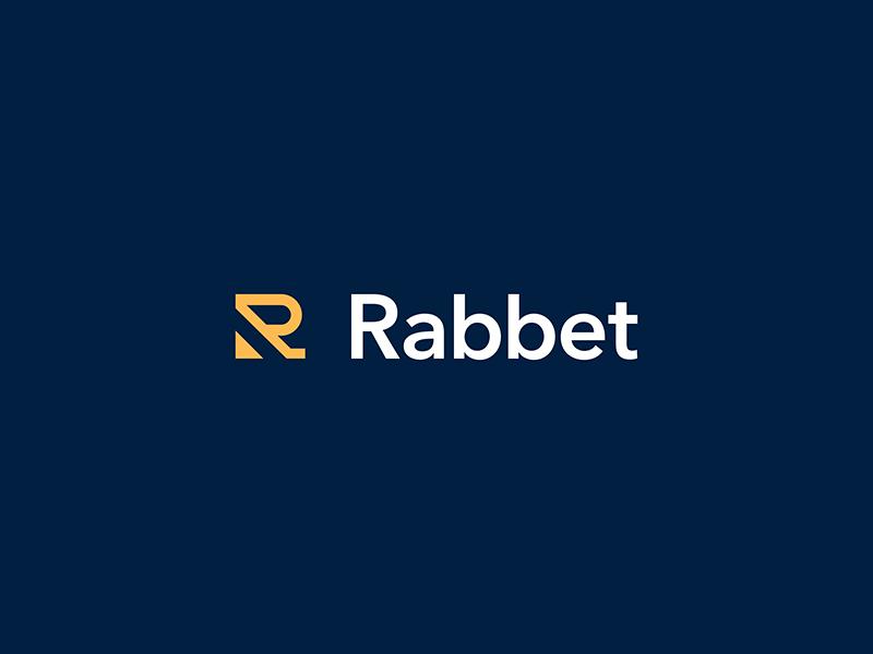Rabbet construction design letter austin lockup modern badge illustration branding typography logo