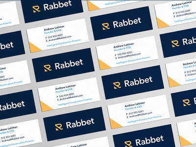 Rabbet Cards design construction business card print stationery branding typography logo