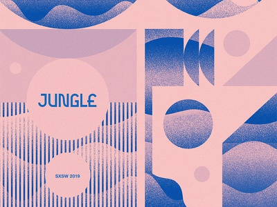 Jungle SXSW design sxsw texture music jungle austin poster pattern geometric modern illustration branding typography logo
