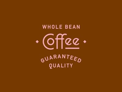 Garland Coffee lettering sedona coffee arizona lockup badge illustration branding typography logo