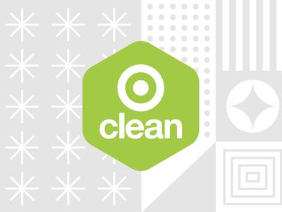 Target Clean cleaning shopping target pattern geometric modern badge illustration branding typography logo