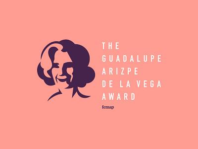 Femap charity nonprofit identity person face award illustration branding typography logo