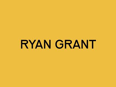 Ryan Grant Photography illustration design modern typography branding logo