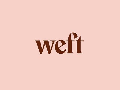 Weft serif modern logotype sewing branding typography logo