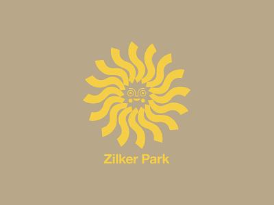 Zilker Park face austin texas austin sun badge illustration branding typography logo