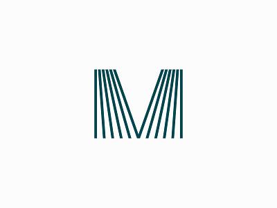 M design symbol m letter m modern illustration branding typography logo