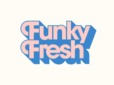 Funky Fresh avantgarde lettering wine retro vintage illustration branding typography logo