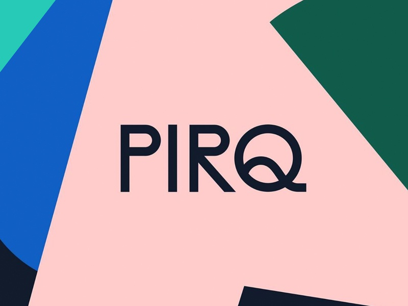 Pirq food packaging drink beverage pattern illustration branding typography logo