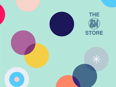 The SM Store illustration dots pattern art pattern