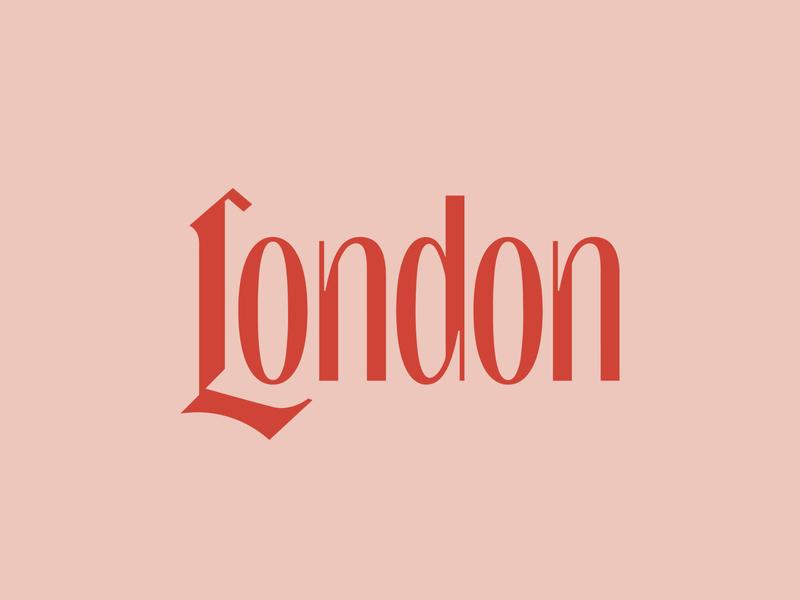 London script lettering travel type city uk london typography logo
