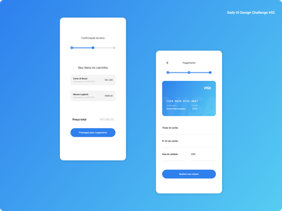 Daily UI Design Challenge #02 | Credit Card Checkout payment dailyuichallenge credit card app