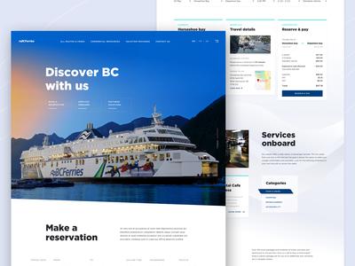 Ocean bus landing page concept