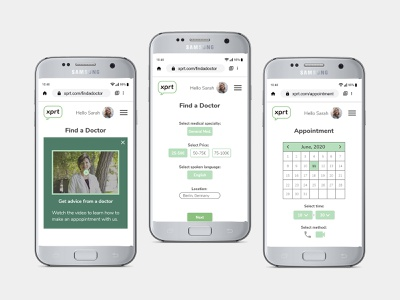How to find a Doctor: XPRT screens booking system booking app appointment booking ui design ux design doctor app product design user experience user interface ui ux mobile app design mobile design mobile app mobile ui mobile healthcare health health care health app