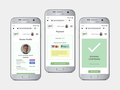 How to find a Doctor: Process payment booking booking app ui ux uidesign uxdesign health healthcare health app product design user interface user experience ui design ux design mobile mobile app design mobile ui mobile app mobile design