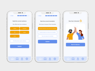 Language learning app - Game time design uxui language app learning app mobile ui ux ui mobile app design mobile design user interface user experience ux design ui design product design