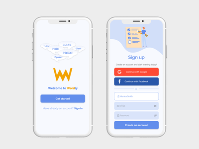 Language learning app - Splash and Sign up screens learning app language learning language app input field logo uiux ux ui sign up screen sign up splash screen mobile app mobile ui ux design ui design mobile app design mobile design user interface user experience product design