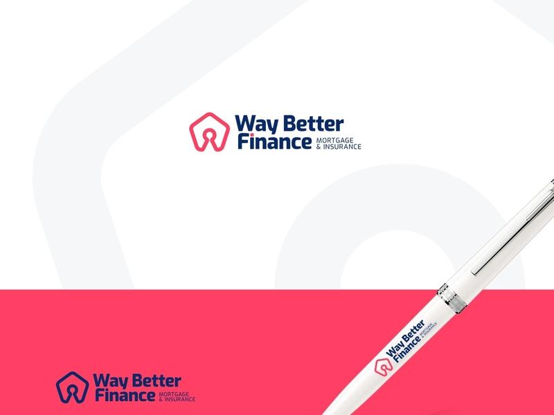 Way Better Finance - Logo Concept logo design vector flat graphic branding design logo