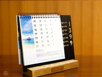 تقویم رومیزی /Deskcalendar calendar wood deskcalendar calendar desk تقویم مدیریتی تقویم چوبی تقویم رومیزی
