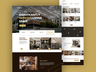 Real Estate web design new design 2021 photoshop figna landing design luxure desktop realestate website landingpage web app typography ux logo ui design