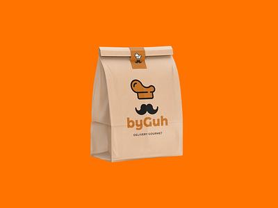 ByGuh Delivery Gourmet cooking cook identity branding branding logo design vector logo design