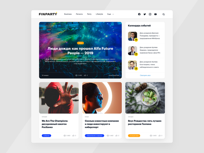 Minimalist Design Concept business web design news ui