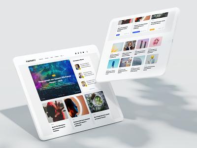 Design Concept business web design news ui