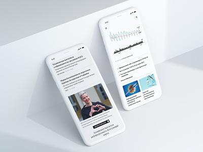 News Mobile web design news ui