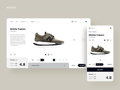 Product Page Concept shop ecommerce fashion web design ui