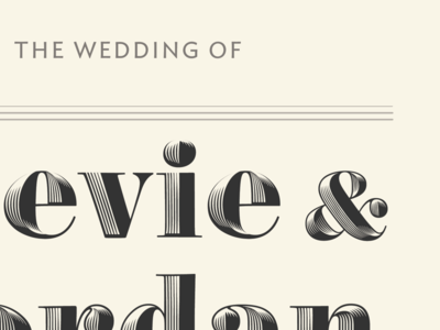 Save that date type obsidian wedding invite