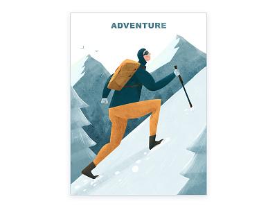 Adventure sports sportsart mountainclimbing adventure illustration