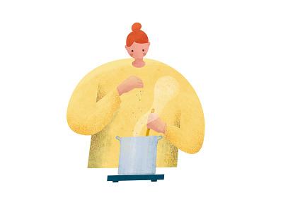 cooking character illustration illustrator character design cooking character digitalart digital illustration illustration