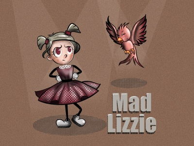 Mad Lizzie retro procreate vintage toon retro art vintage art typography cartoon character cartoon 1930s character design apple pencil character 2d illustration illustration