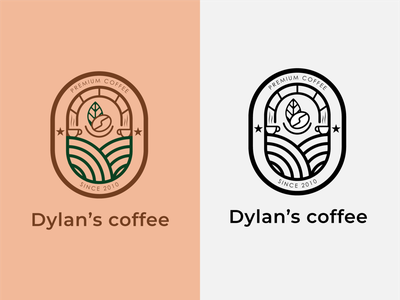Dylan s coffee - Coffee shop Logo coffee logo coffee shop coffee logo icon design dailylogochallenge dailylogo
