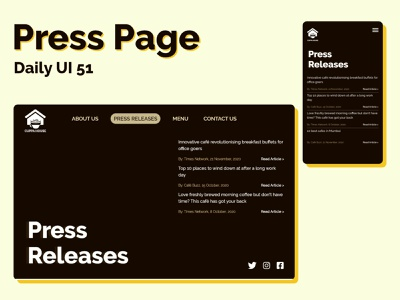 Press Page ui adobexd daily ui 51 press page dailyui