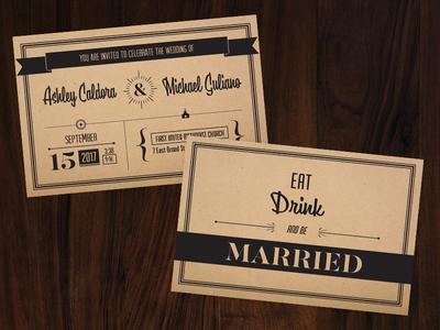 Wedding Invite wedding fold out invitation cardboard invitation