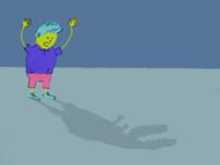 Dinosaur shadow
