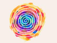Felt tip pen spiral