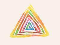 Felt tip triangle
