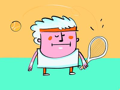 Tennis roland garros wimbledon burned pink drawing sun luv tennis
