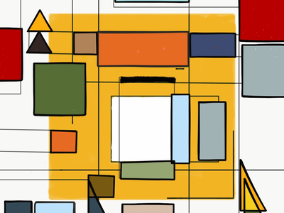 Sonata architecture colours geometric painting art abstract