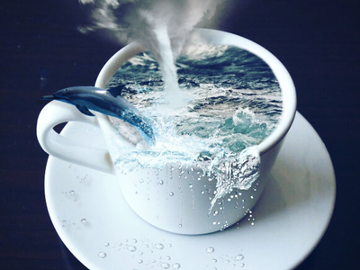 Storm in a teacup photoshop graphics teacup photomontage