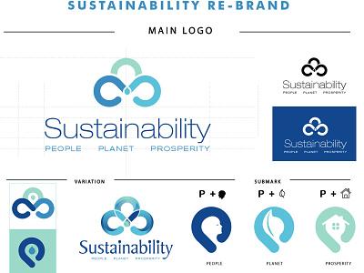 Sustainability Branding colours typography vector illustration graphic design branding logo