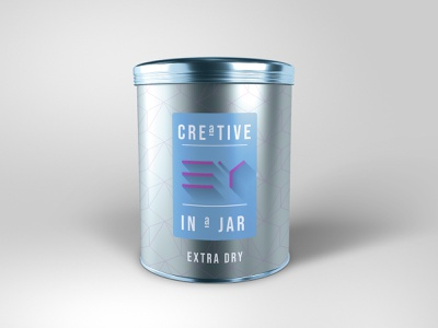 Creative in a jar logo branding colours template tag