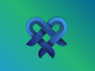 Interlocking colours illustration geometric abstract icon branding logo vector design