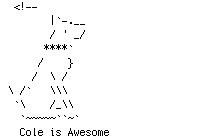cole as ascii art by Ben Kutil on Dribbble