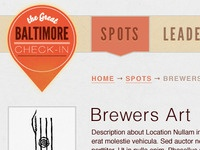 Great Baltimore Check-In - Interior Page