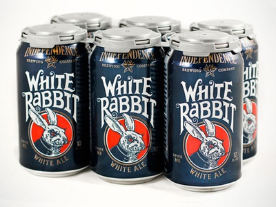 Independence White Rabbit beer independence white rabbit white ale can package design cans