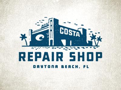 Repair Shop Logo logo type design vintage stamp