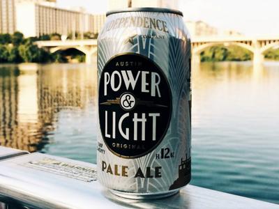 Powerandlight power light independence beer packaging design art deco cans